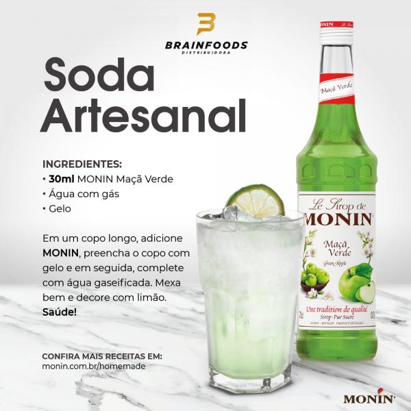 Receita de Soda Artesanal com Monin de Maçã Verde